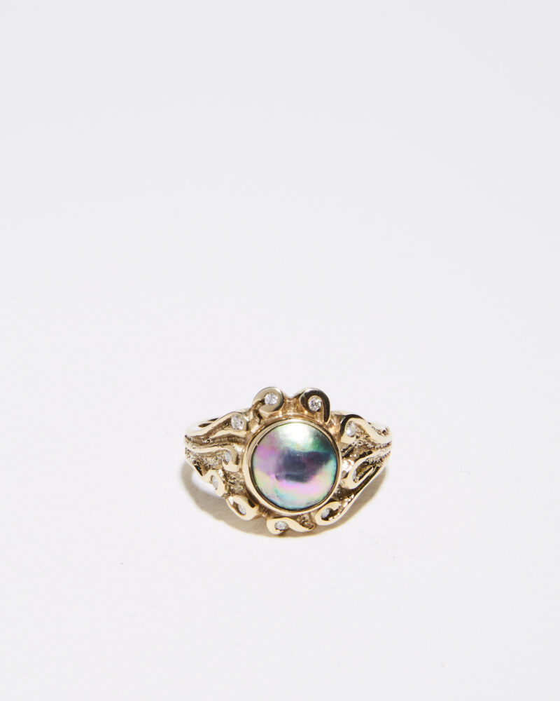 empress pearl and diamond ring