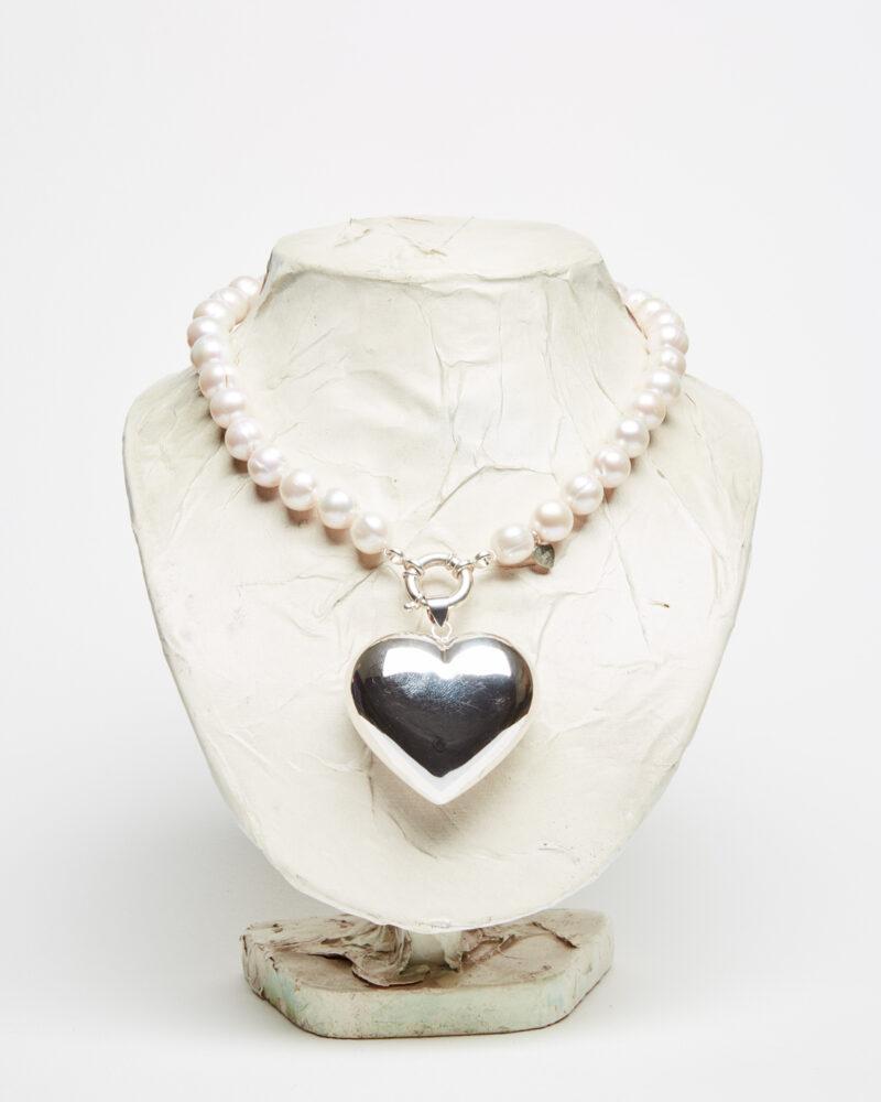 Big silver heart