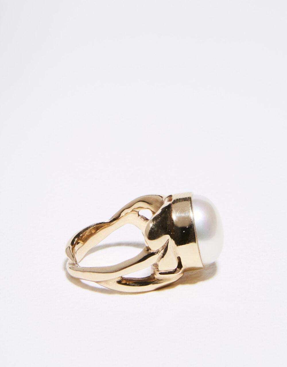 Leaf ring 9ct